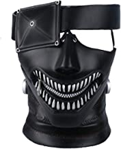 Yacn Tokyo Ghoul Mask, 2017Movie Kaneki Ken Mask with Adjustable Zipper, 3D Mask Japan Anime Cosplay Mask