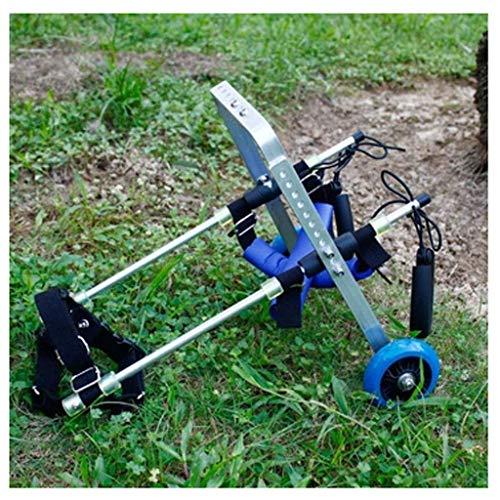 SSB Perro pequeño de Personas discapacitadas en Silla de Ruedas for Mascotas Miembro Posterior Auxiliar piernas traseras Rehabilitación Perro discapacitados Ultraligero