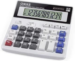 Calculator, ONXE Standard Function Scientific Electronics Desktop Calculators, Dual Power, Big Button 12 Digit Large LCD D...