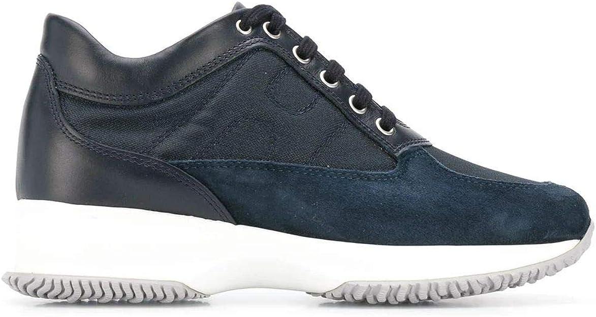 Hogan Luxury Fashion Donna HXW00N00E10KVV0071 Blu Pelle Sneakers ...