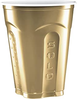 Solo Squared Cups, 18 Oz, Gold, 60 Count