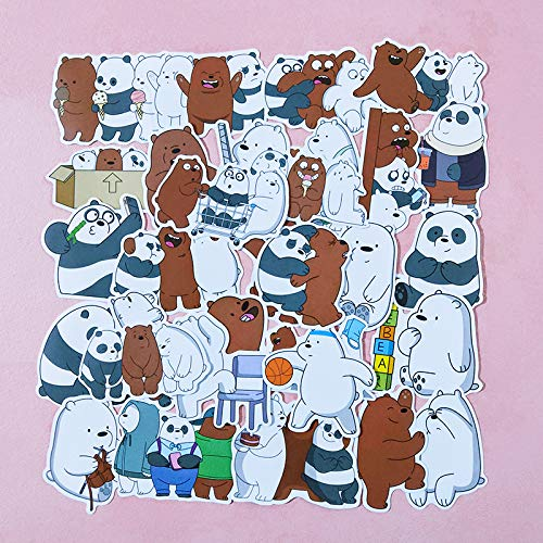 DONGJI Cartoon cute bear suitcase stickers laptop skateboard decoration stickers waterproof 36pcs