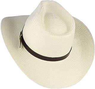 a2a9cc3d077 Jomuhoy Men Summer Straw Hat Panama Sunhat Fedora Visor Caps with Band