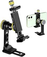 $29 » Sponsored Ad - Metal Phone Tripod Mount for iPhone - Universal Cell Phone Stand Holder Clamp with Cold Shoe, 360° Rotatabl...