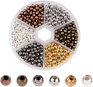 948Pcs 6 Color DIY Assorted Round Plated Metallic Beads Kit 4mm for Jewellery Bracelet Necklaces Art Craft Kit for Adult G...