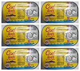 Cod Liver in Own Juice 4.05 oz can From Norway pack of 6