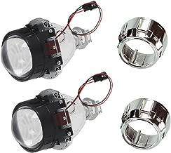 EBTOOLS Faro principale del motociclo 12V,1200lm LED Headlight Red Blue Dual Lens Angel Eyes Lampada per proiettore