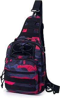 Mardingtop - Bolso de hombro para hombre deportivo, bolso de una sola bola militar para camping, senderismo, ciclismo y viaje