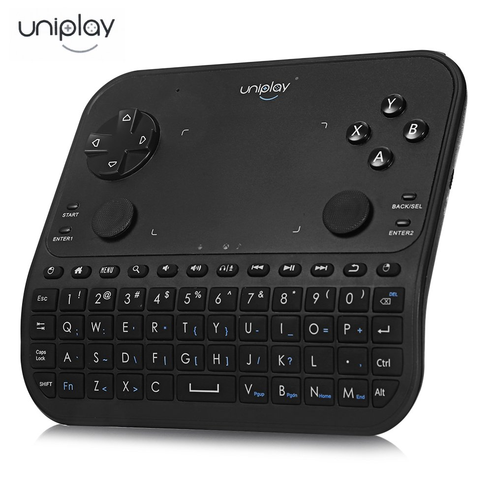 Uniplay - Mando inalámbrico para teclado con touchpad y ratón, teclado inalámbrico para auriculares, mando a distancia, compatible con portátil, Smart TV, proyector, control de ratón, 2,4 G (negro): Amazon.es: Electrónica