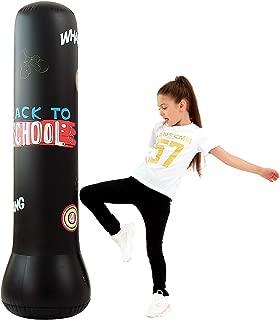 Sac de Frappe Boxe sur Pied pour Karat/é foyar 150cm Sac De Boxe Gonflable Punching Ball pour Adulte Enfant MMA Sacs de Frappe Lourds Fitness