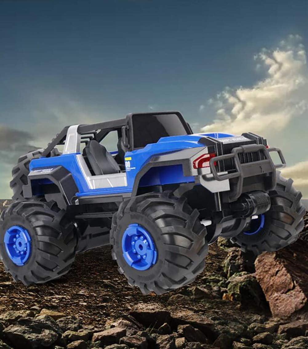 XIHAI 4WD Voiture TéLéCommandéE 1:14 Escalade éTanche Buggy RC Offroad DéRive à Grande Vitesse RC Voiture Jouets pour Enfants Adultes,Rouge Blue