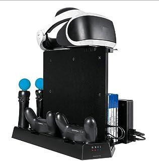 縦置きスタンド、冷却システム、PS4 / SLIM/PRO/VR/MOVE/コントローラー用のオールインワン充電器ブラケット、サイレント冷却ファン、11ゲームディ