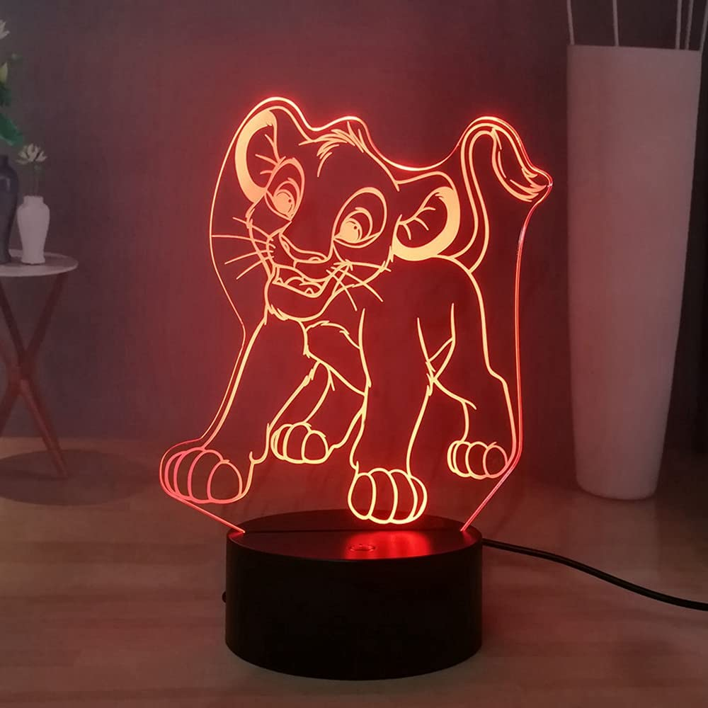 Laysinly The Lion King 3D Night LED Ligh Colorado Springs Mall Kids Trust Light Simba