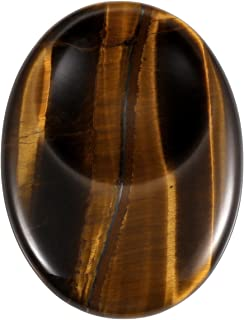 Jovivi Worry Stone Tiger Eye Stone Pocket Thumb Palm Stones and Crystals for Anxiety Reiki Healing Therapy
