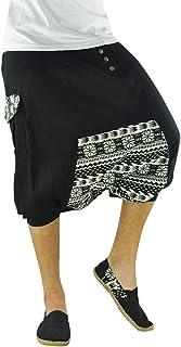 virblatt - Harem Shorts Men and Women | 100% Cotton | Short Pants Drop Crotch Hippie Shorts Genie Cotton Aladdin Boho