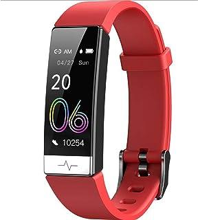 YP Pulsera Bluetooth 4.0,Pulsera Actividad con Pulsómetro Mujer Hombre,Monitor de Actividad Deportiva,Ritmo Cardíaco,Impermeable IP68,Reloj Fitness,smartwatch con Podómetro,Rojo