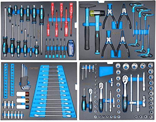 DeTec. Werkzeugkiste/Werkzeugkasten inkl. 175 tlg. Werkzeugsortiment - 6
