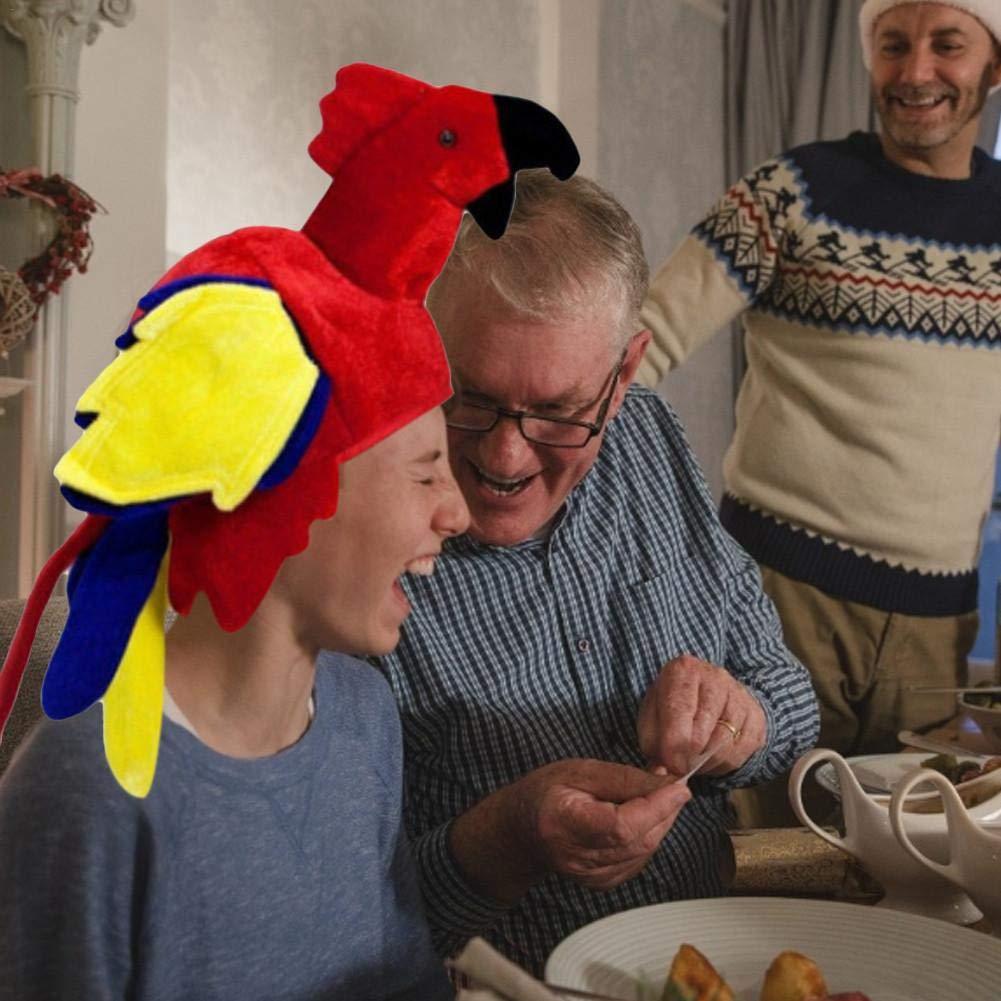 fervory Sombrero de Loro Unisex para Disfraz de Loro y pájaro ...
