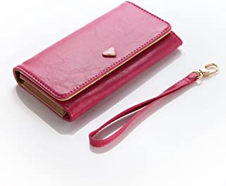 Cooper Flirt [Smartphone Wallet Case] for Alcatel Pop C1, C2, C3, C5, D1, D3, D5, Fit, S3   Wrist Strap, Card Slots, Coin Purse (Hot Pink)