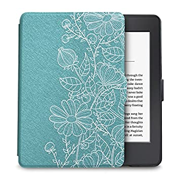 WALNEW Case for Kindle Paperwhite Prior to 2018 Model No.EY21 or DP75SDI  - PU Leather Case Smart Protective Cover Only Fits Old Generation Kindle Paperwhite Prior to 2018