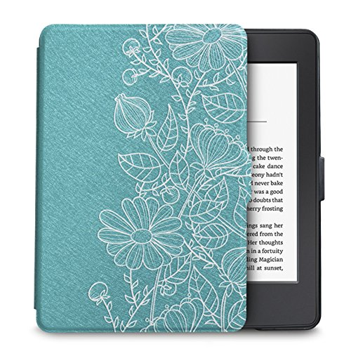 WALNEW Case for Kindle Paperwhite Prior to 2018(Model No.EY21 or DP75SDI) - PU Leather Case Smart Protective Cover Only Fits Old Generation Kindle Paperwhite Prior to 2018