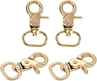 Prettyia Metal Swivel Clasps Lanyard Snap Hook Lobster Claw Clasp Jewelry Findings, Pack of 4