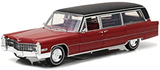 Greenlight Pc-18008 1: 18 Precision Collection - 1: 18 1966 Cadillac S&S Limousine - Red with Black Vinyl Roof