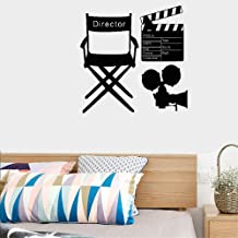 Mural Saying Wall Decal Sticker Art Mural Home Decor Quote Wall Sticker Decals Movie Director Clapperboard Cinematography Camera for Living Room Bedroom Home Decor