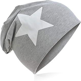 Berretto lungo in jersey, da bambino, unisex, con cotone, motivo con stella