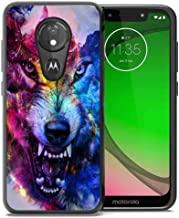 for Moto G7 Play Case, Moto G7 Optimo Case Space Galaxy Nebula Wolf Pattern, ABLOOMBOX Shockproof Slim Thin Anti-Scratch Flexible Bumper Case for Motorola Moto G7 Play Phone Case