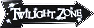 TG,LLC The Twilight Zone Metal Arrow Sign Novelty Home Theater Man Cave Wall Decor