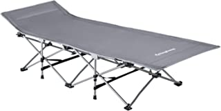 KingCamp Strong Stable Folding Camping Bed Cot with Carry Bag