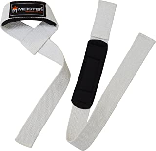 Meister Neoprene-Padded No-Slip Weight Lifting Straps for Grip (Pair)