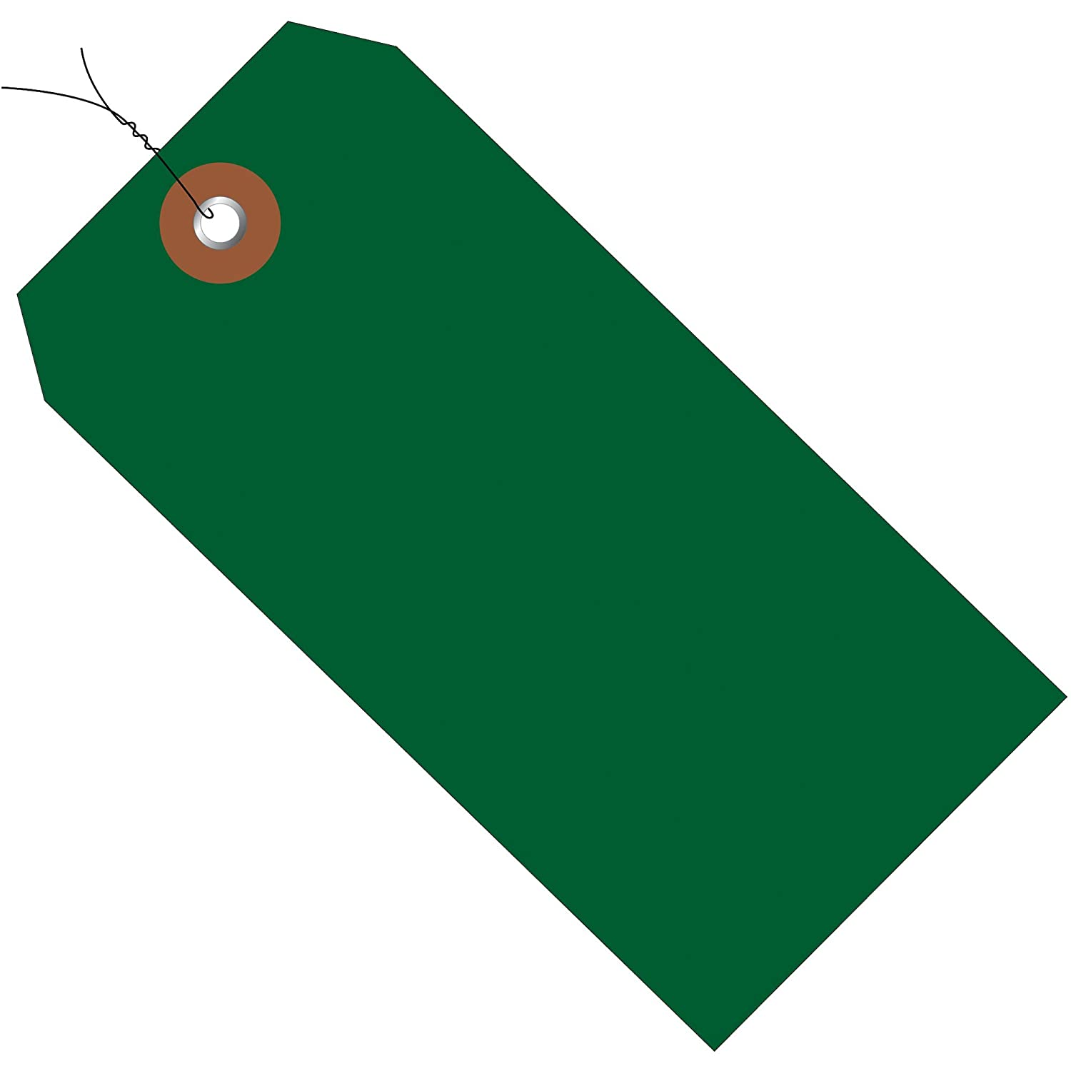 Poly Bag Guy Plastic Shipping Tags, Pre-Wired, 6 1/4
