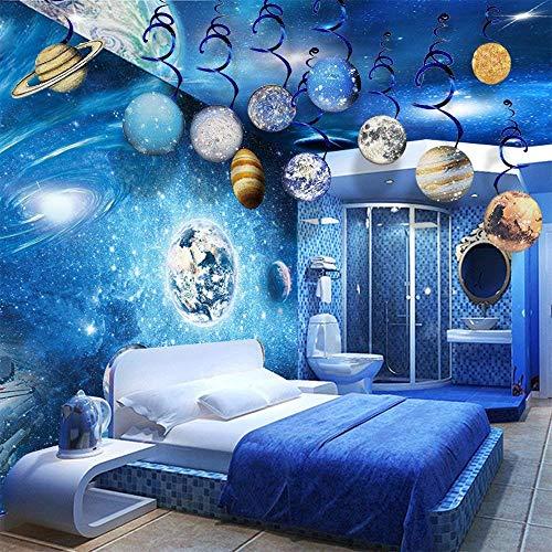 Sayala 30 Anni Sistema Solare vortici/Decorazioni per Appendere Il Sistema Solare - Forniture per Feste di Compleanno per Pianeti / spazi Esterni