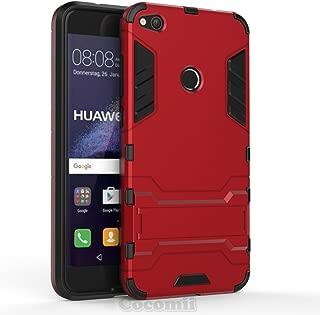 Cocomii Iron Man Armor Huawei P8 lite 2017/P9 lite 2017/Honor 8 Lite/Nova Lite/GR3 2017 Case New [Heavy Duty] Tactical Grip Kickstand Shockproof [Army Defender] Cover for Huawei P8 lite 2017 (I.Red)