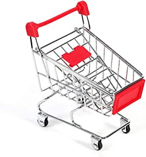 Mini supermercado Carretilla de mano - Carrito de servicios públicos de compras Juguete loro Periquito Periquito Cockatiel Inteligencia Herramienta de crecimiento Juguete Carrito de compras Modo Jugue