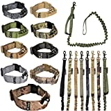 FDC Dog Tactical Collar with Leash Bungee Handle Heavy Duty Training Military Army Molle Width 1.5in...