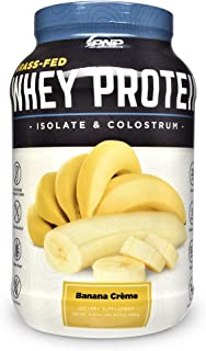 Grass-Fed Whey Protein Isolate & Colostrum | 100% All-Natural Grass-Fed Whey Protein Isolate, Colostrum & Probiotics with No Artificial Flavors, Colors, Antibiotics, Gluten or Soy | 1,065g