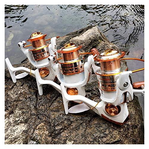 Carrete de Pesca Rollo De Pesca De Hilado 12BB + 1 Bolas De Rodamiento 500-9000 Series Metal Bobina De Metal Spinning Reel Boat Rock Wheel (tamaño : 4000 Series)