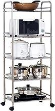 Chen Estantería de cocina Aterrizaje Rack de horno de microondas Rack de almacenamiento Rack de pote de acero inoxidable