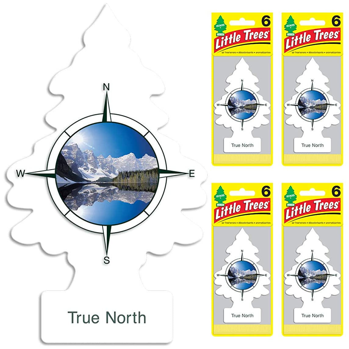 LITTLE TREES auto air freshener, True North, 6-packs (4 count)