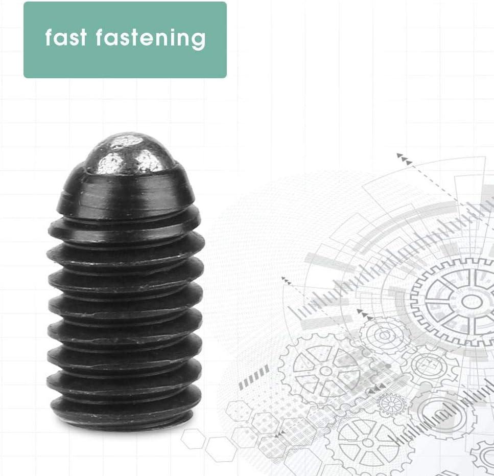 Stantuffi a sfera 10 pezzi dado a esagono incassato con filettatura M5 Vite fermo a molla con sfera acciaio al carbonio per installazione di apparecchiature meccaniche M5*8