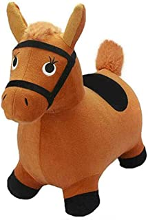 Horse Hopper, Inflatable Jumping Horse, Space Hopper, Ride-On Bouncy Animal Inflatable Hopper Plush Covered with Pump, 2/3...