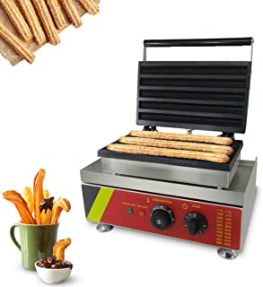 JIAWANSHUN 5-Slice Electric Churro Maker Machine Commercial Spanish Churro Machine 110V 1500W