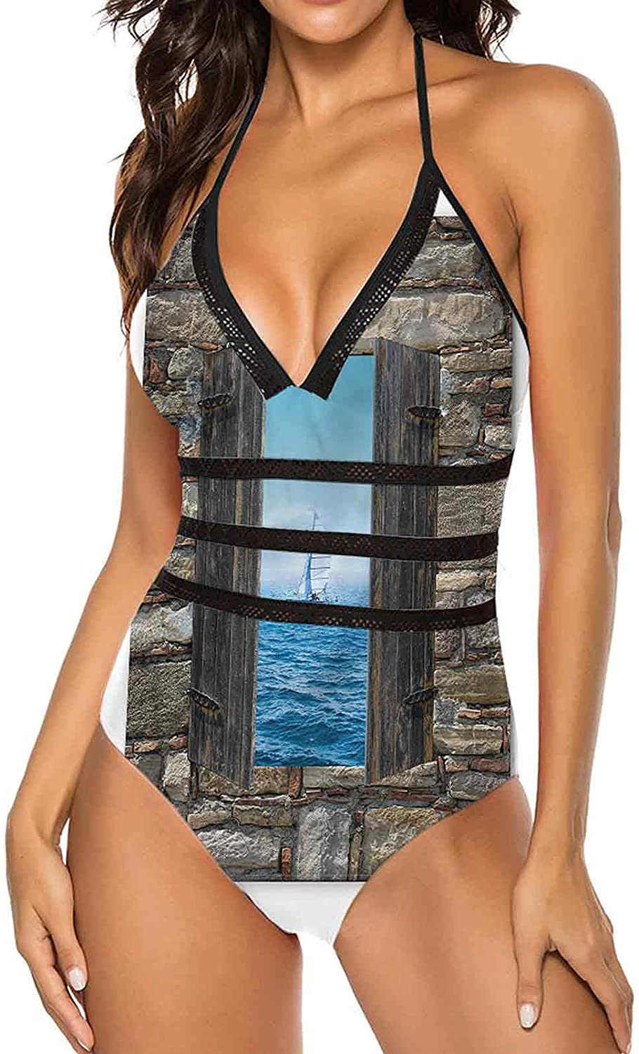 l One Piece Swimsuits for Women Sexy Sea Halt Hobby Selling rankings Sail on Boat At the price