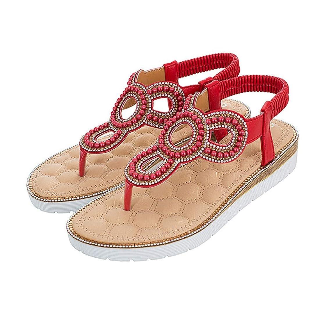 費やすコントラストうがい薬[FULFUGO] JSXWはマウス女性サンダル夏ピンチフラット大きいサイズの女性の靴をくりぬきました
