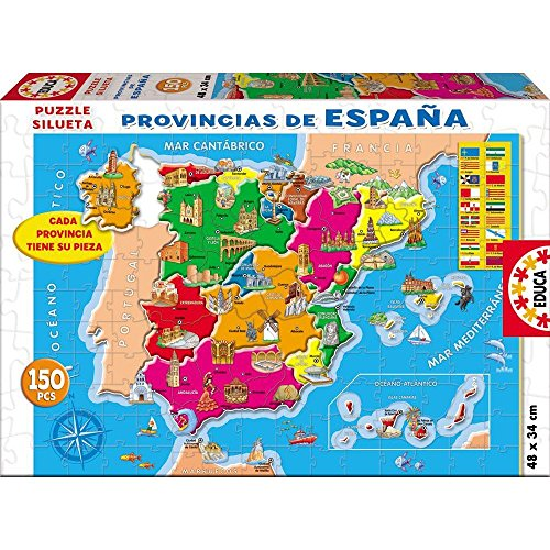 Oferta de Educa - Provincias España Puzzle, 150 Piezas, Multicolor (14870)