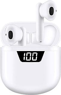 Auriculares inalámbricos Bluetooth 5.2 Tocar [Caja 35 H LED Pantalla de Carga con Carga Rápida USB-C] Micrófono estéreo 3...