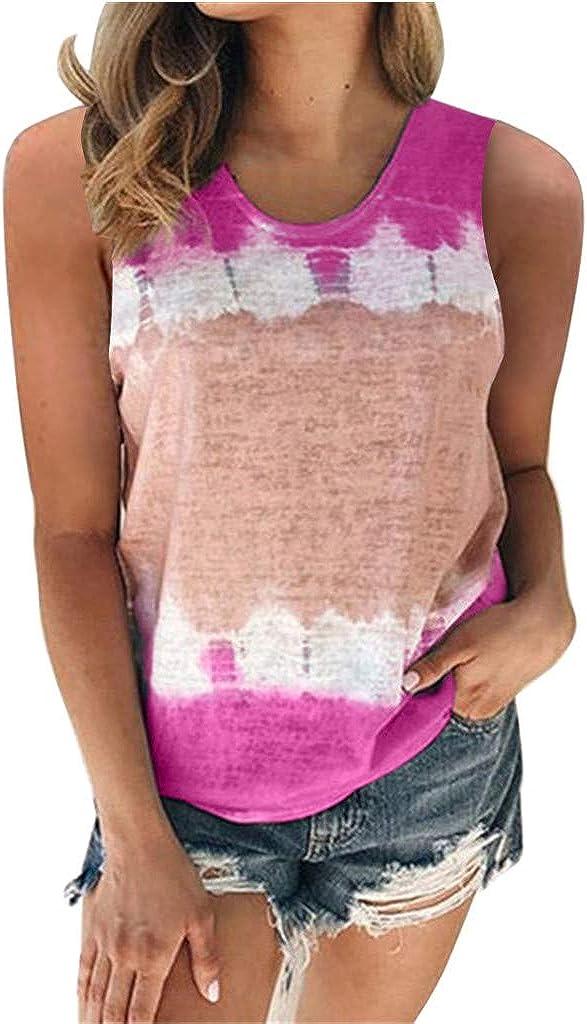 FABIURT Womens Graphic Tank Tops Summer Sunflower Tank Tops Women Cute Graphic Sleeveless Tees Shirts Casual Print Vest Vacation T-Shirt